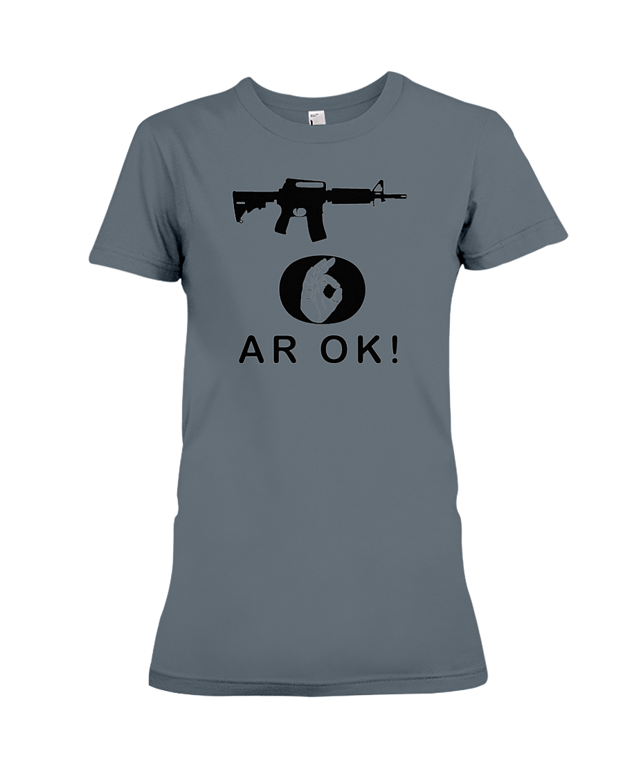 AR OK Black Rifle women's t-shirt dark heather