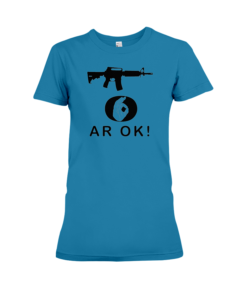 AR OK Black Rifle women's t-shirt