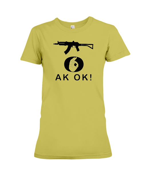 AK OK Black Rifle women's t-shirt daisy