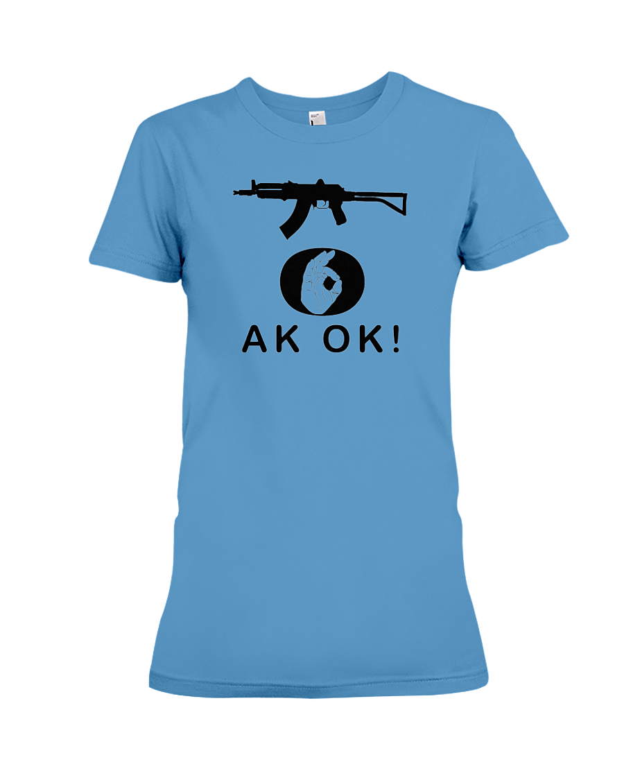 AK OK Black Rifle women's t-shirt iris