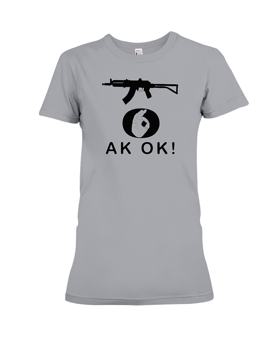 AK OK Black Rifle women's t-shirt sports grey