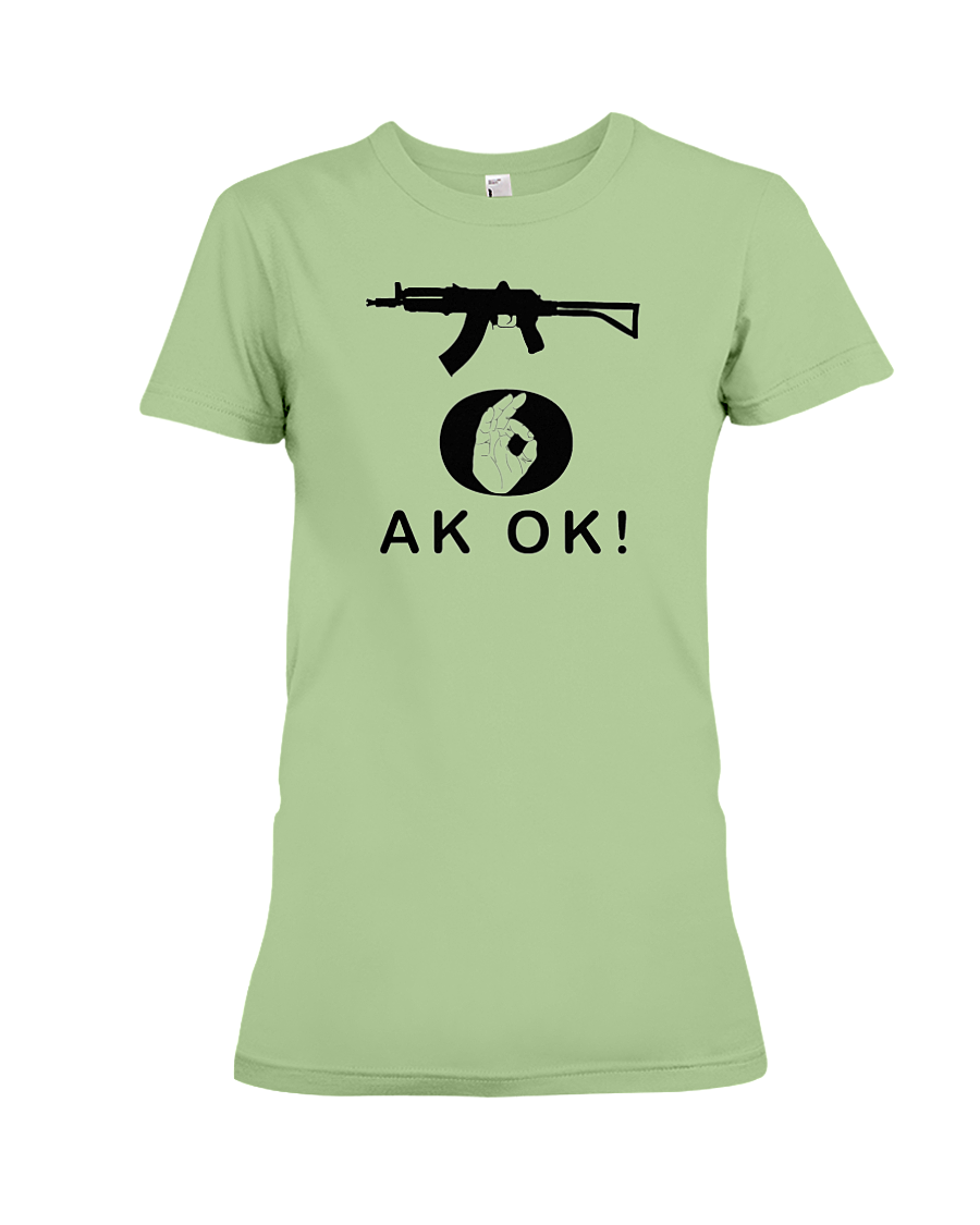 AK OK Black Rifle women's t-shirt pistachio