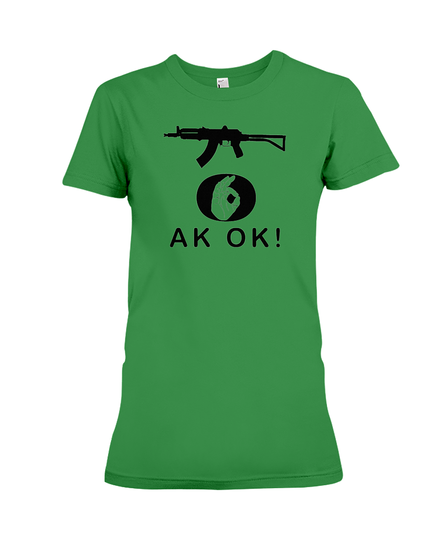 AK OK Black Rifle women's t-shirt green