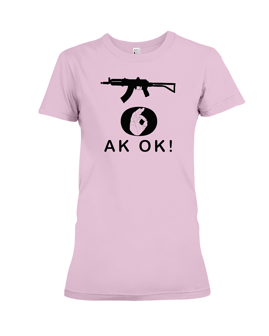 AK OK Black Rifle women's t-shirt pink
