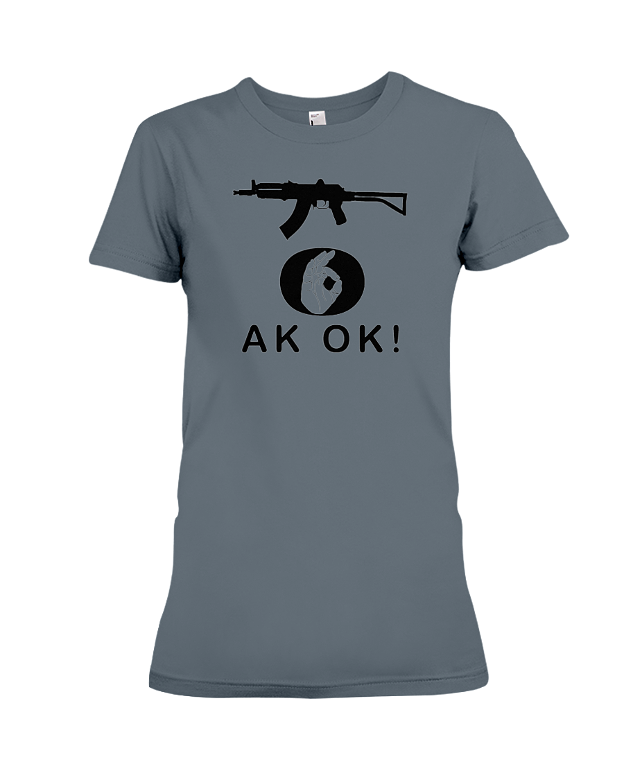 AK OK Black Rifle women's t-shirt dark heather
