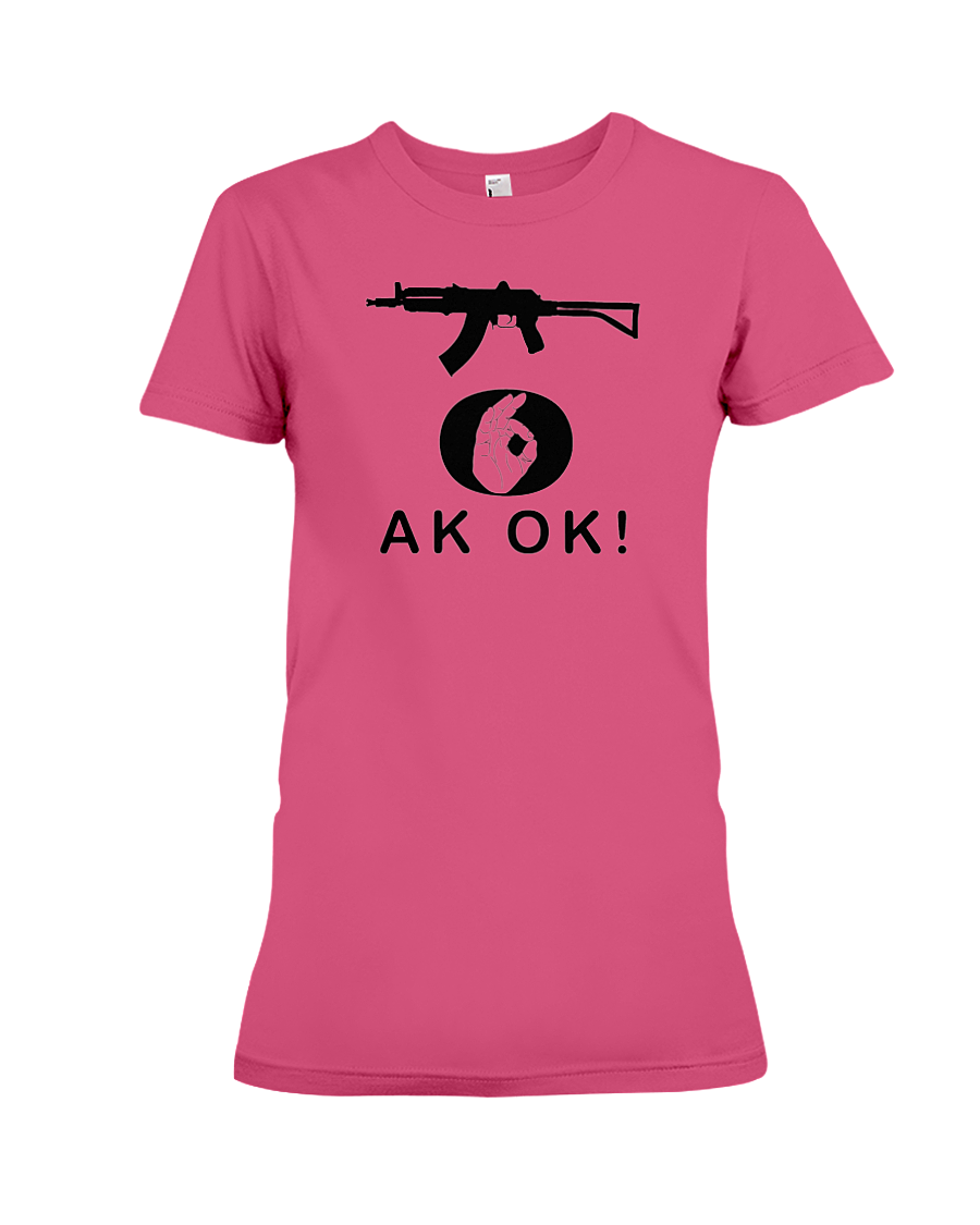 AK OK Black Rifle women's t-shirt heliconia