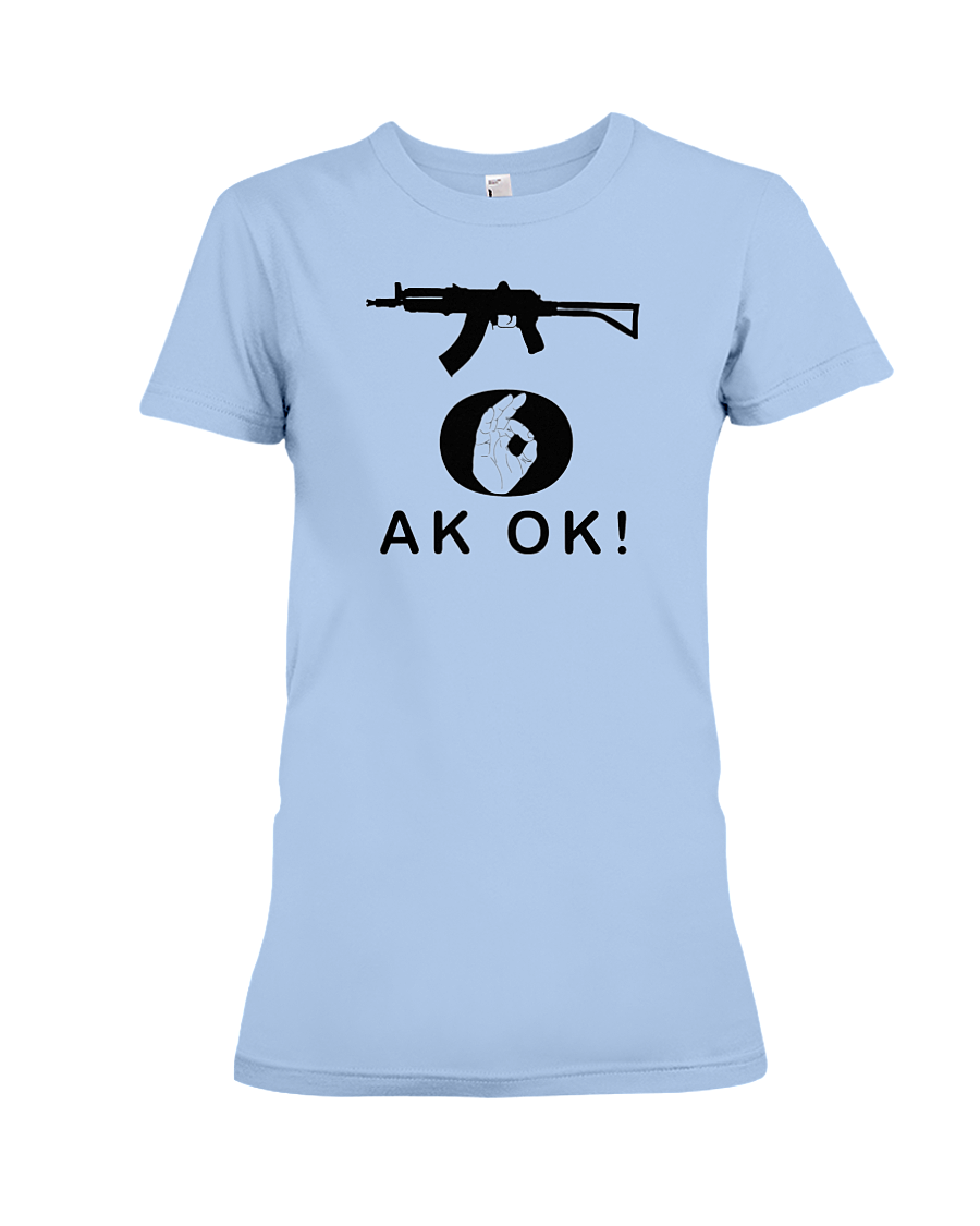 AK OK Black Rifle women's t-shirt light blue