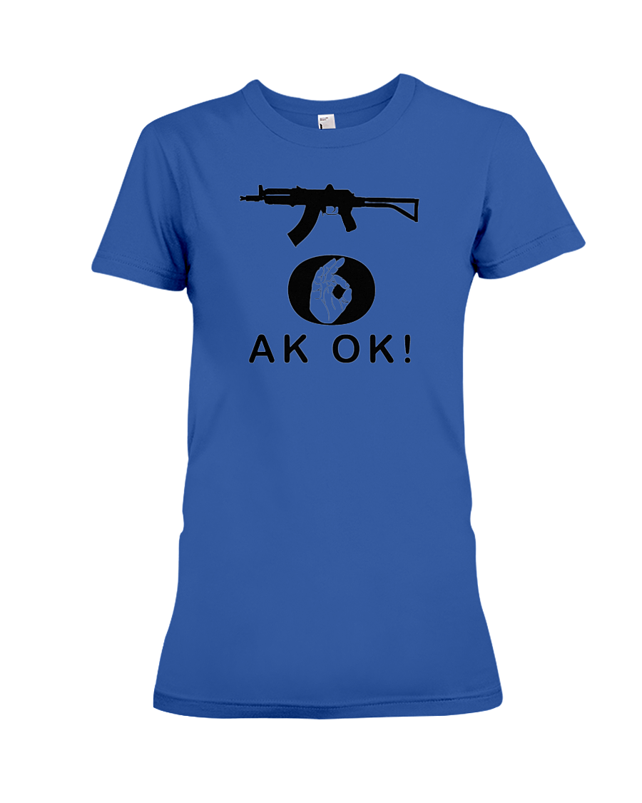 AK OK Black Rifle women's t-shirt royal blue