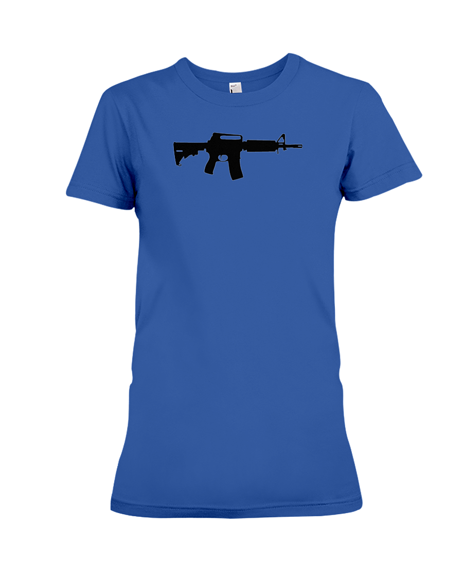 AR Black Rifle women's t-shirt royal blue