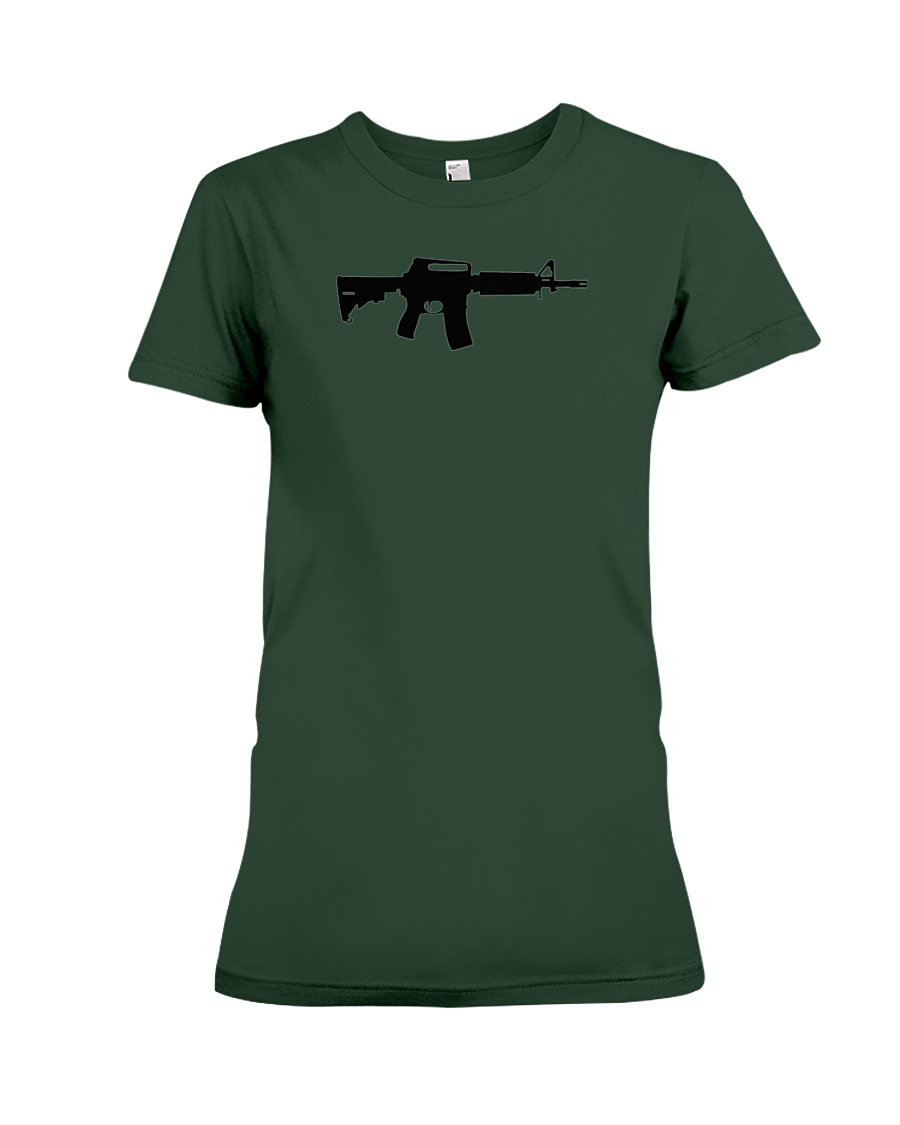 AR Black Rifle women's t-shirt forest green