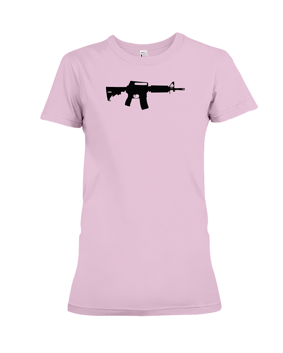 AR Black Rifle women's t-shirt pink