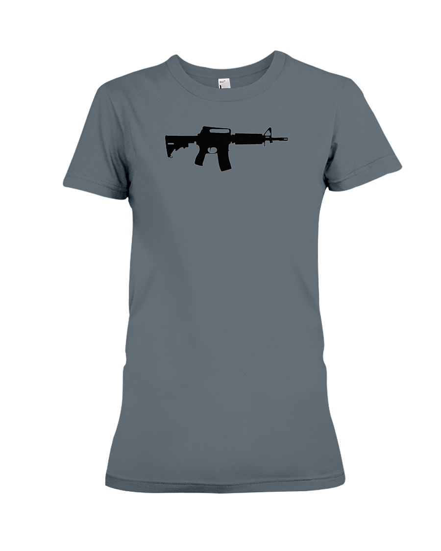 AR Black Rifle women's t-shirt dark heather