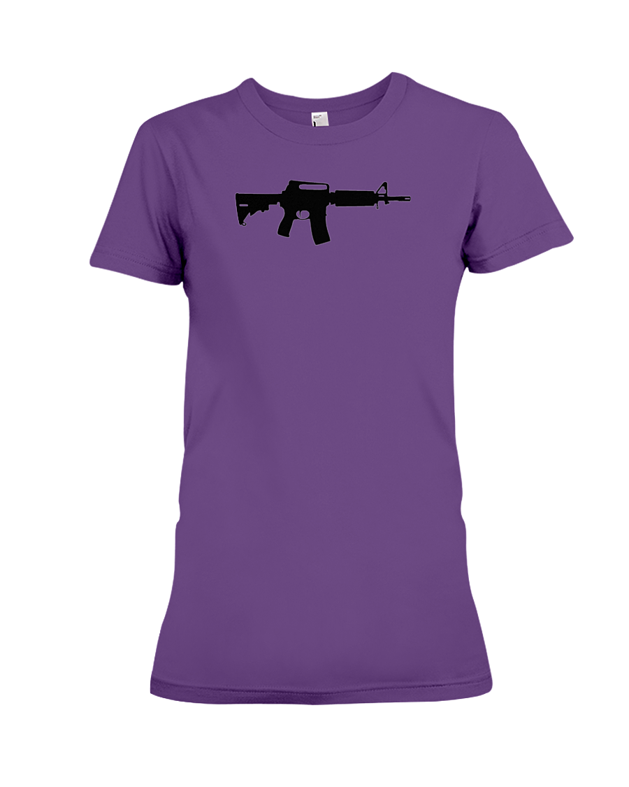 AR Black Rifle women's t-shirt purple