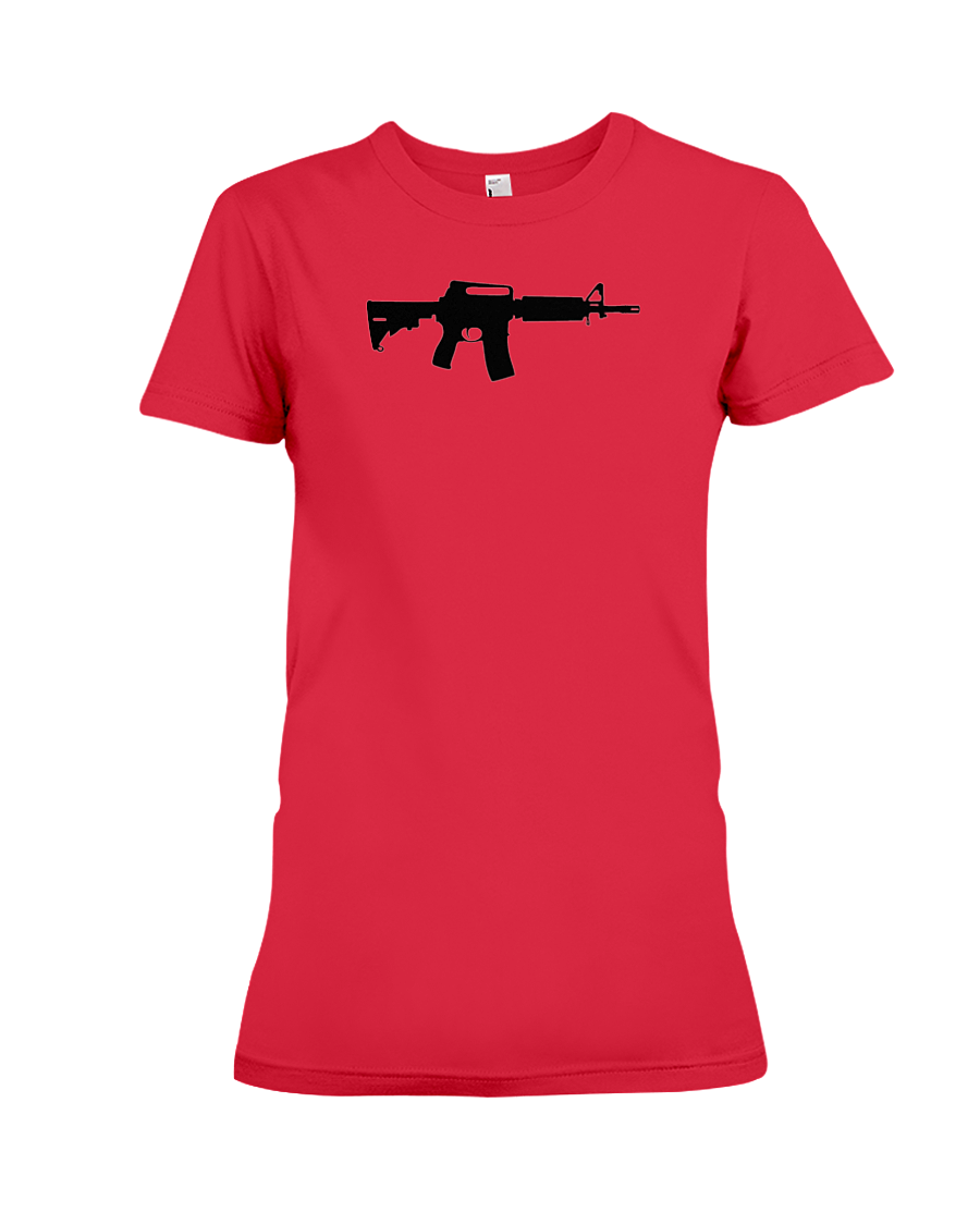 AR Black Rifle women's t-shirt red