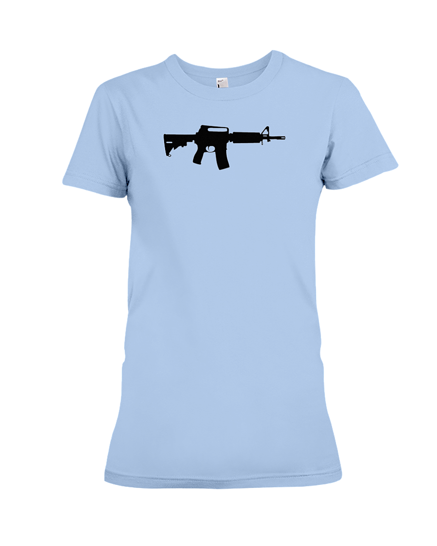 AR Black Rifle women's t-shirt light blue