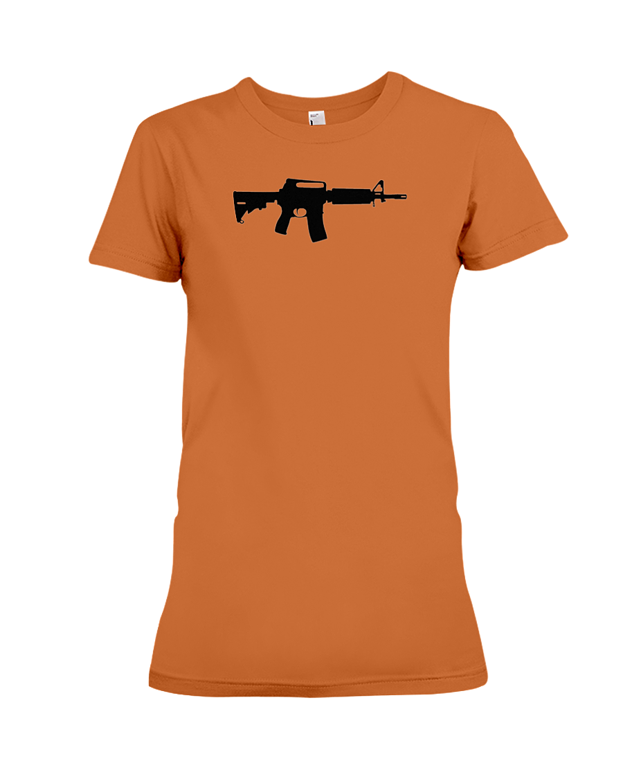 AR Black Rifle women's t-shirt orange