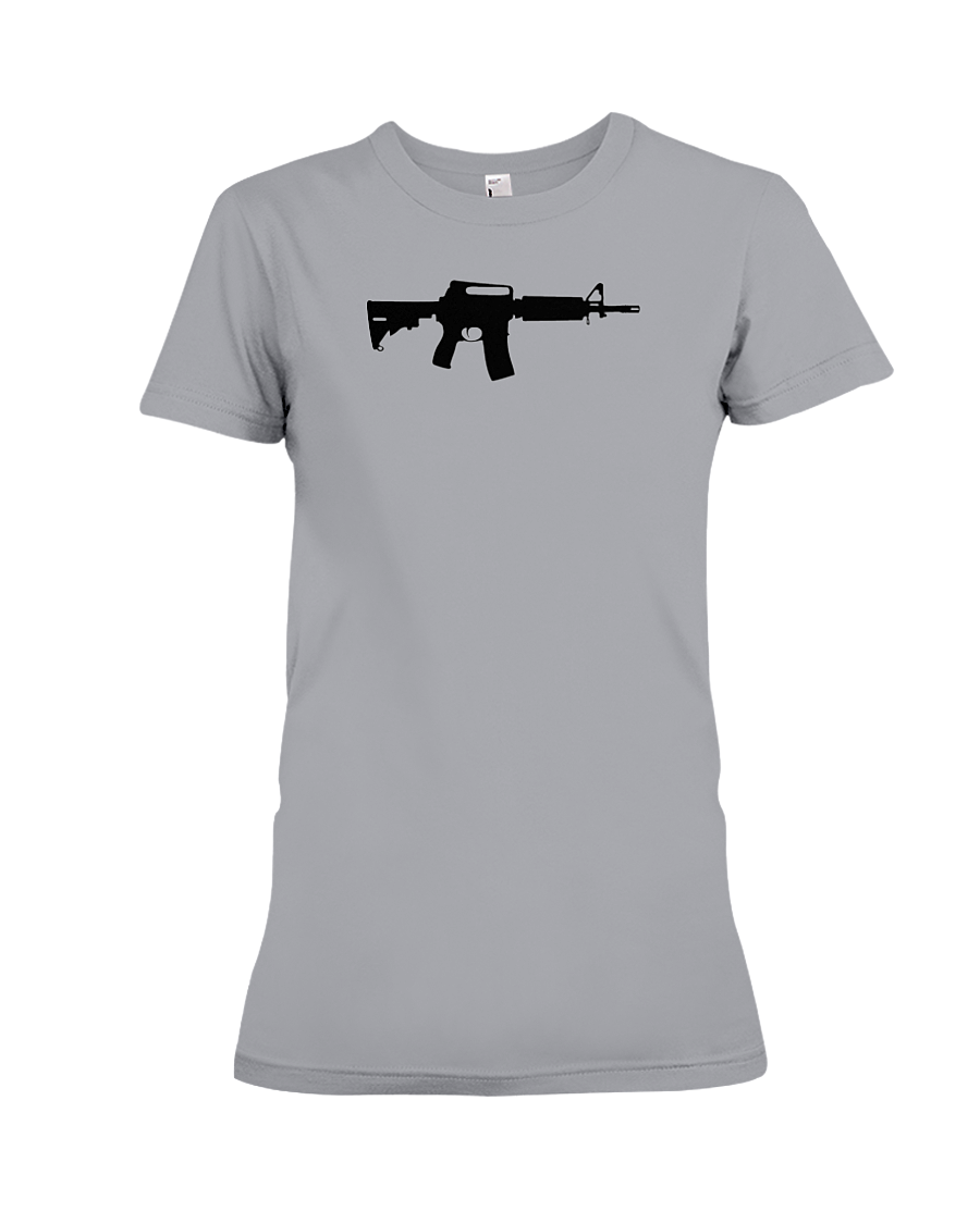 AR Black Rifle women's t-shirt sports grey