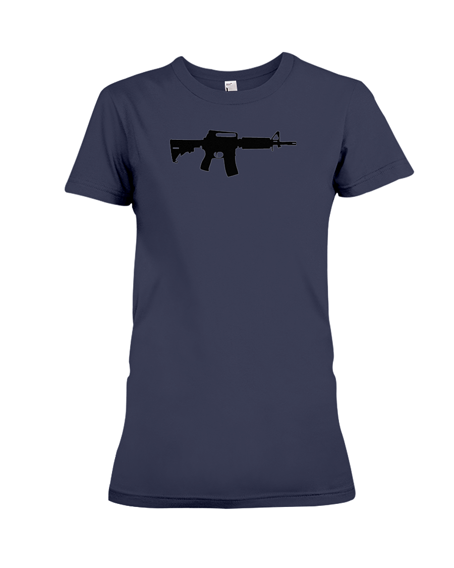 AR Black Rifle women's t-shirt navy blue