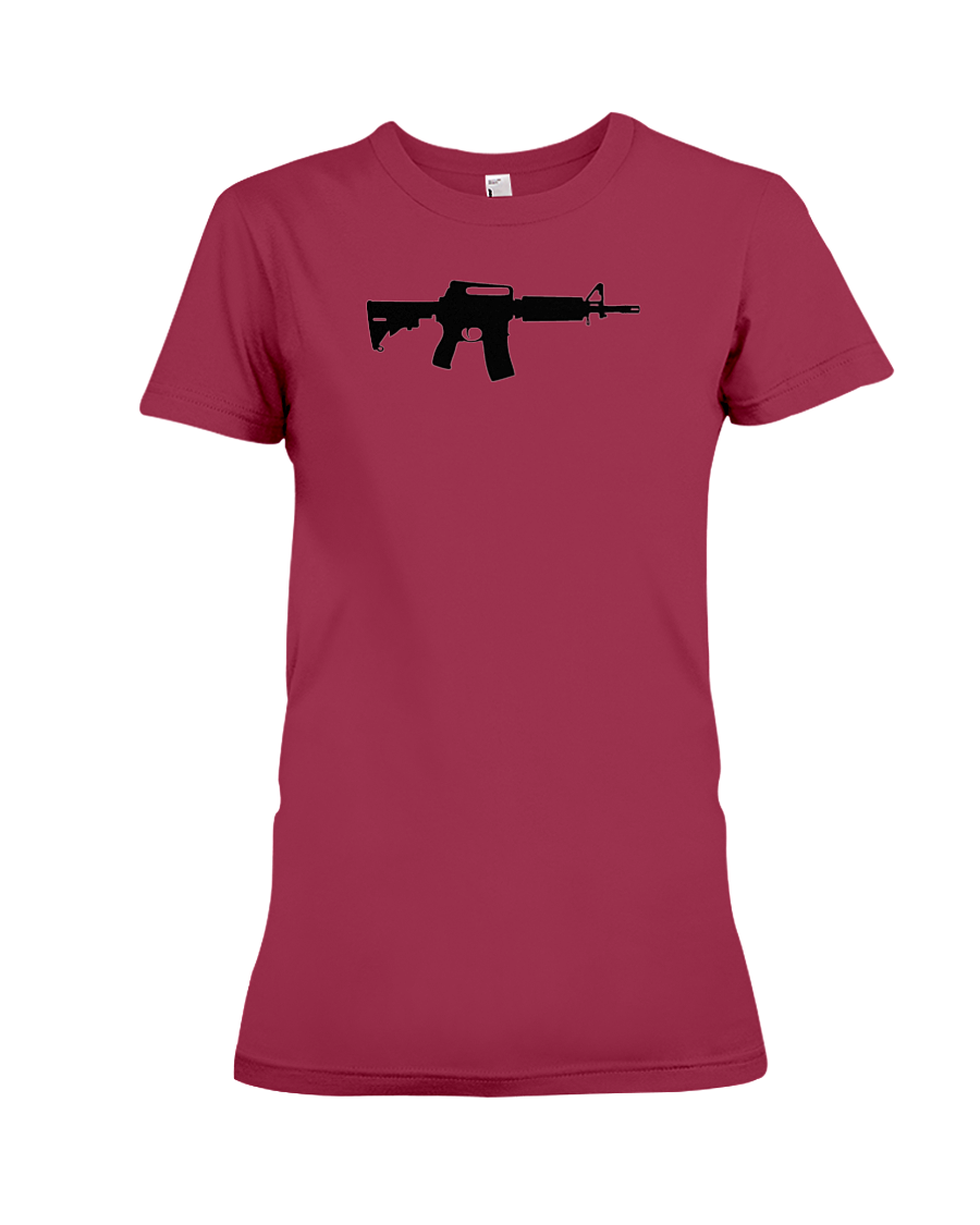 AR Black Rifle women's t-shirt cardinal red
