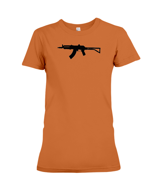 AK Black Rifle women's t-shirt orange