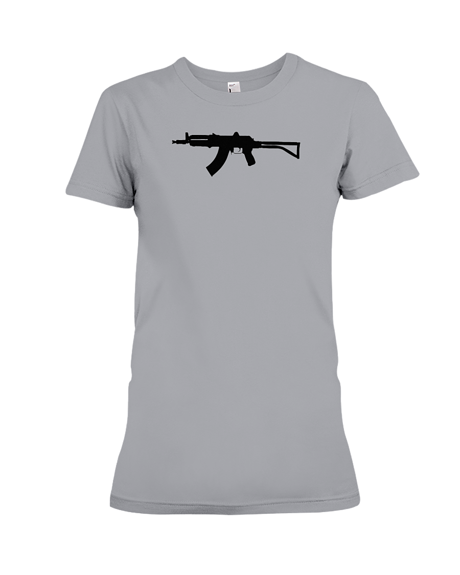 AK Black Rifle women's t-shirt sports grey