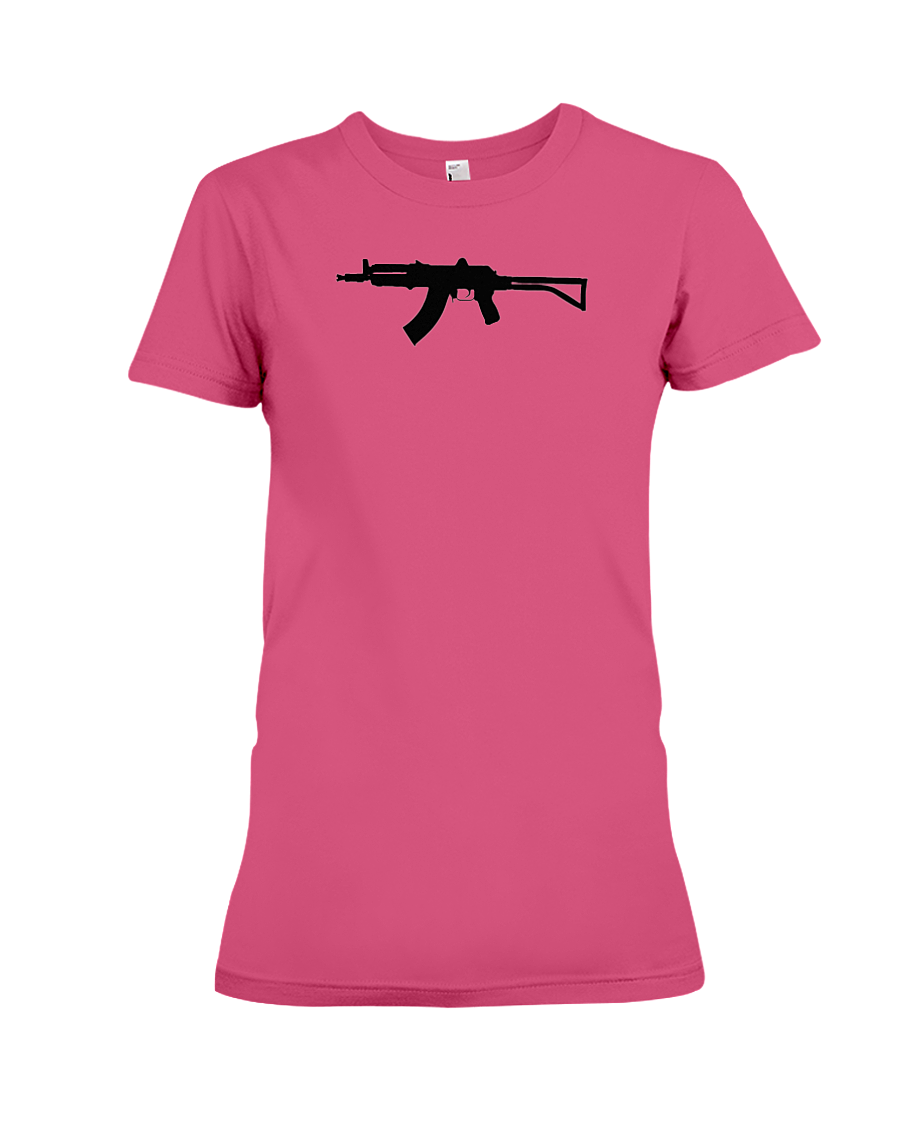 AK Black Rifle women's t-shirt heliconia