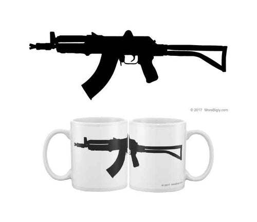AK-47 black rifle coffee mug