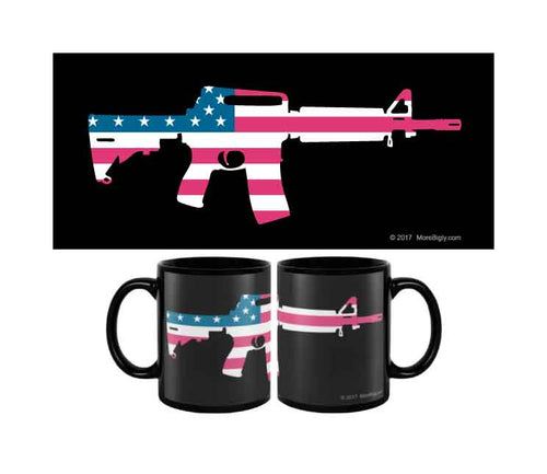 American Flag AR-15 coffee mug