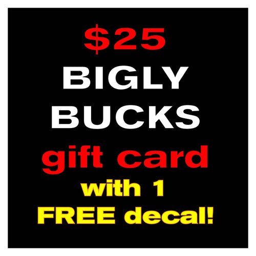 $25 Gift Card & 1 FREE decal!