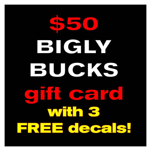 $50 Gift Card & 3 FREE decals!