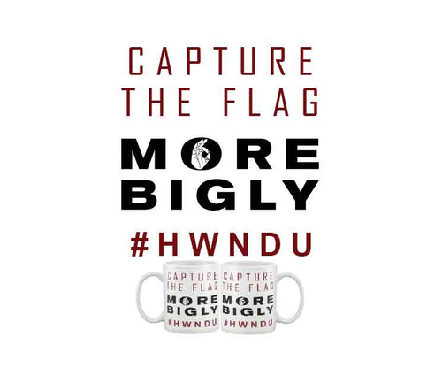 Capture the Flag HWNDU coffee mug
