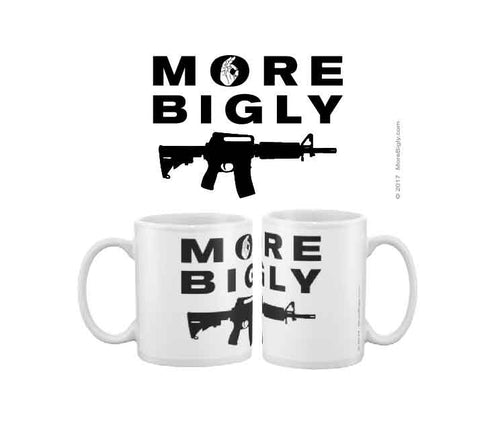More Bigly AR-15 black rifle coffee mug