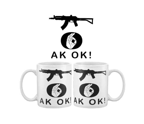 More Bigly AK OK black rifle coffee mug