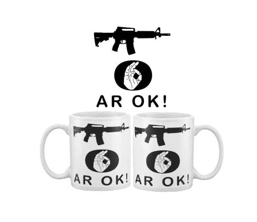 More Bigly AR OK black rifle coffee mug