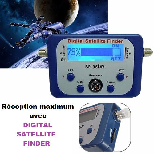 pointer facilement satellite  direction satellite finder