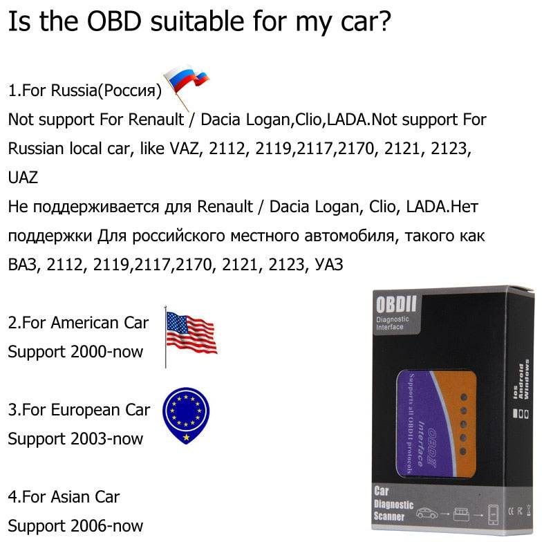 valise de controle automobile Scanner diagnostic obd2 bluetooth/Android