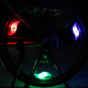 1PC Bicycle Light Bike Lamp LED Tyre Tire Valve Caps Wheel spokes Cycling Lanterns For Bicycle Accessories Red Blue Green Colorf