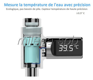 vue en coupe thermomètre digital de douche