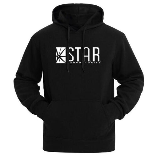Flash Star Labs Pocketed Hoodies - Dude Life