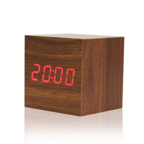 """The Royal"" Wooden LED Alarm Clock"