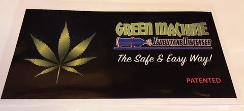 "5""x10"" Decal-Green Machine"