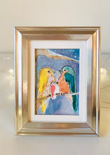 Load image into Gallery viewer, In This Together - Mini Framed Original Bird Watercolor Painting hand painted birds gift