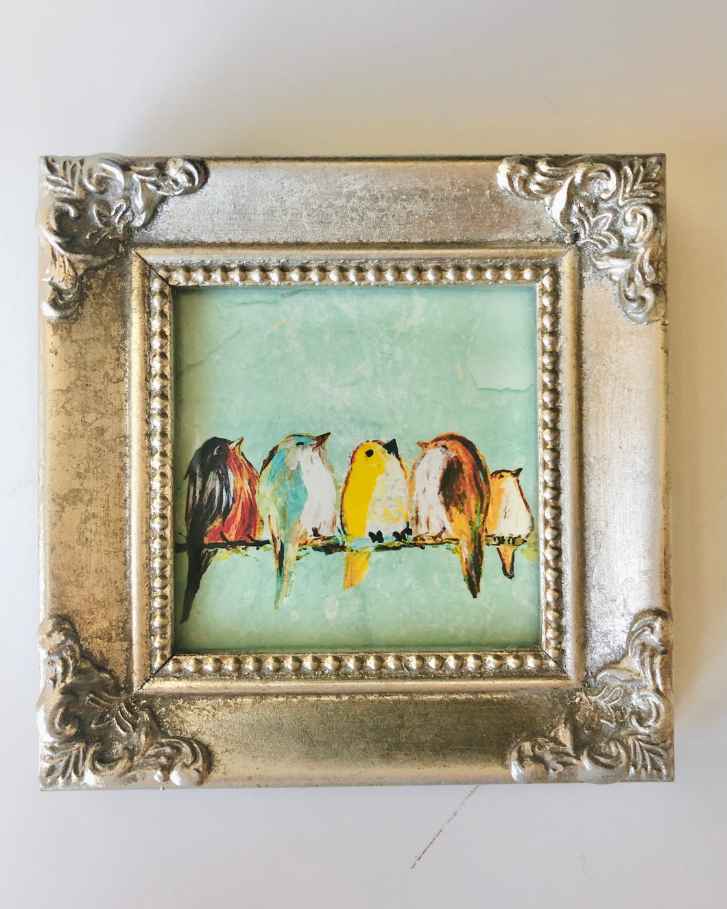 We Are The World - Mini Framed Print of birds on a wire