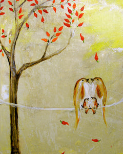 Love Beneath The Chili Pepper Tree Print