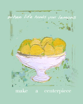 The Lemon Centerpiece Print