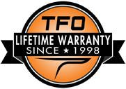 TFO Lifetime Fly Rod Warranty Badge Logo