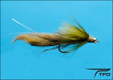 Beadhead Rabbit Strip Leech - Olive Fly fishing nymph | TFO - Temple Fork Outfitters Canada