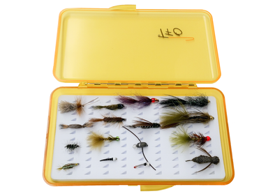 TFO Lake fly selection with fly box