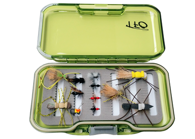 tfo terrestrial fly selection with fly box