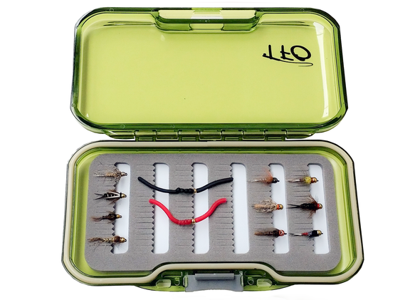 tfo fly selection tungsten beadheads with fly box